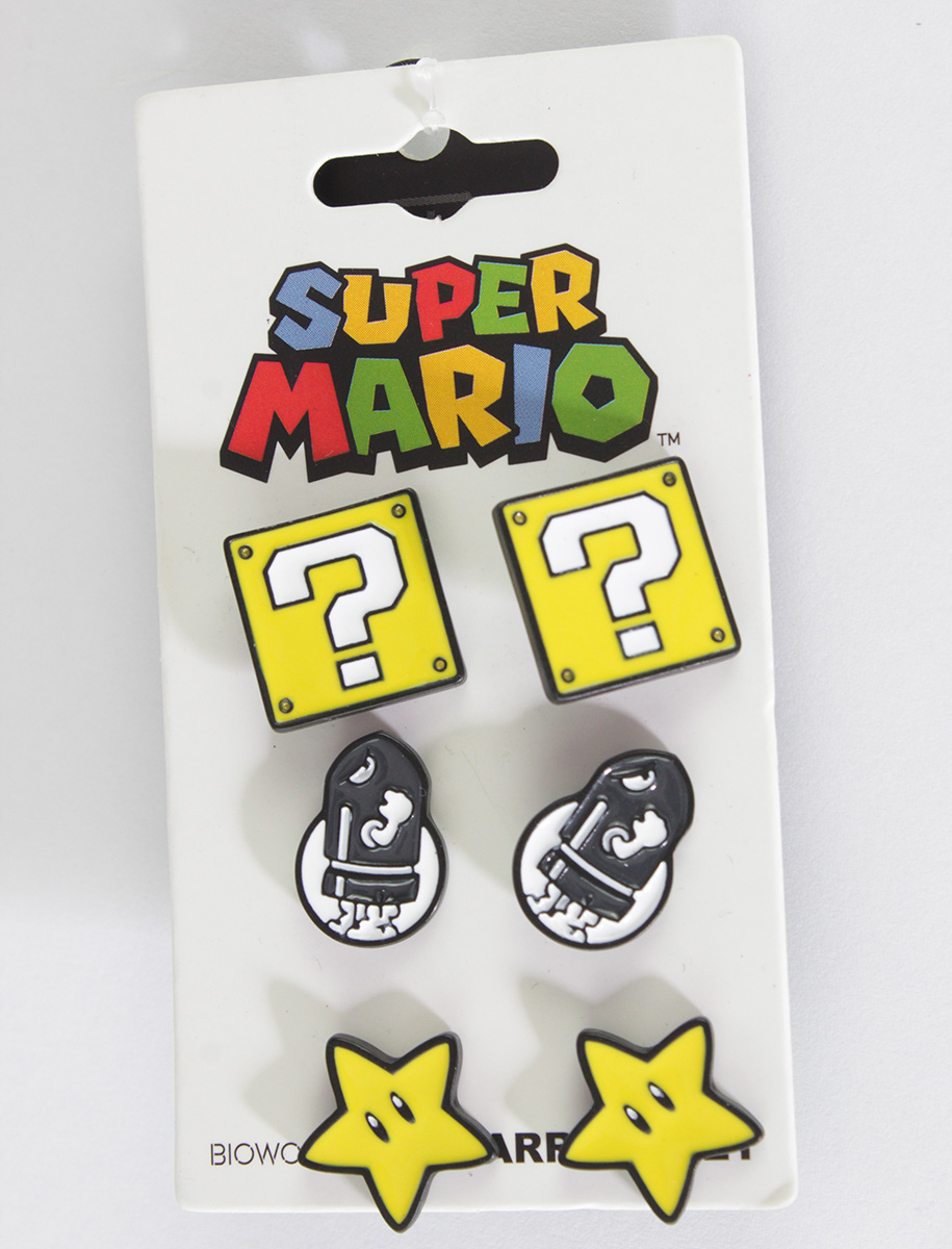 Super Mario Earrings 3 Sets