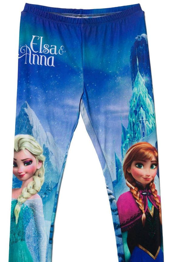 Disney Frozen Elsa and Anna Tween Leggings XL